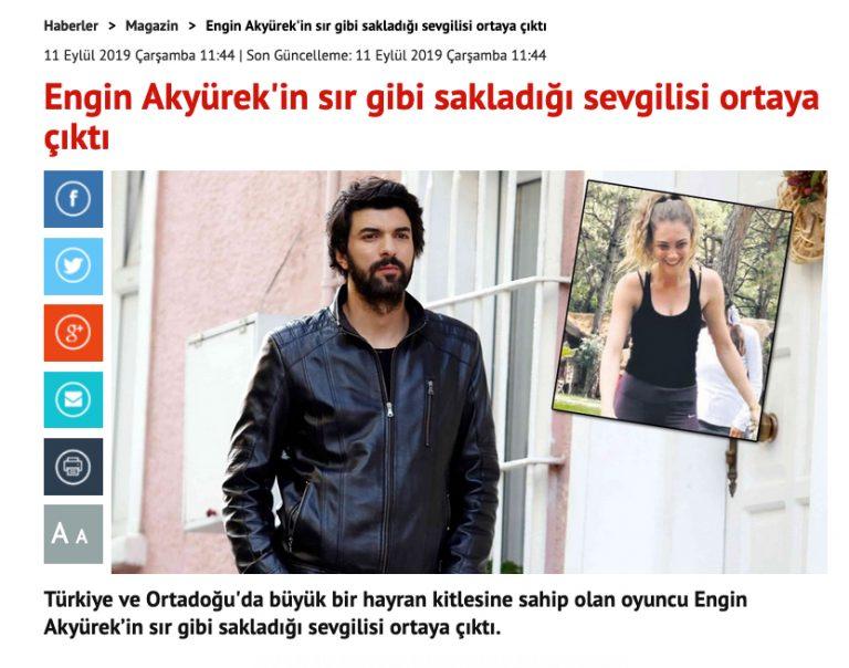 С кем встречается Энгин Акюрек?